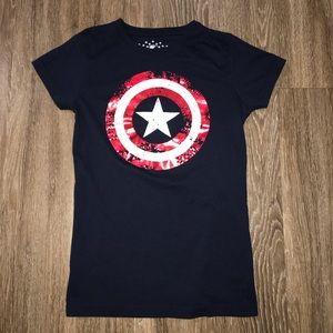 Marvel Captain America Universal Studios Tee, Sz L